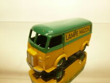 DINKY TOYS 25B PEUGEOT D3A VAN - LAMPE MAZDA - GREEN + YELLOW - GOOD CONDITION