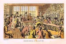 """Dr. Syntax in Search - """"DR. SYNTAX AT AN AUCTION"""" - Chromolithograph - 1869"""
