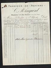 """LYON (69) USINE de SACS , PAPIERS PLIABLES """"C. RINGARD"""" en 1894"""