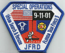 "Jacksonville Special Ops. / U.S.A.R. / Task Force-5, FL (4"" x 3.25"")  fire patch"
