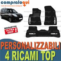 TAPPETINI tappeti PER FIAT DOBLO 2009> in MOQUETTE SU MISURA + 4 RICAMI TOP