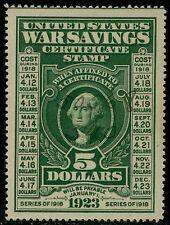 WS2 WAR SAVINGS $5.00 SUPERB USED JUMBO GEM BQ2047