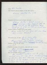 1960 Bill Forester Green Bay Packers Handwritten Questionare To Murray Olderman
