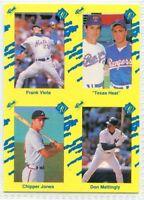 1990 Classic Yellow Chipper Jones Rookie RC Card Atlanta Braves 2018 HOF