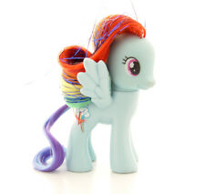 "My Little Pony ""RAINBOW DASH"" (Crystal Empire 2012 tinsel) Brushable G4 3"" FIM"