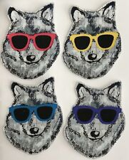 Cool Wolves - Dogs - Iron On fabric appliques