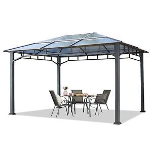 Gazebo da Giardino 3x4m Hardtop tetto policarbonato padiglione alluminio pergola
