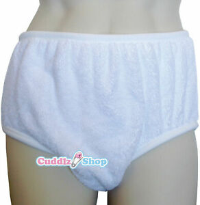 Single Thickness Terry Towelling Adult Size Incontinence Brief Pant Washable