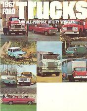1967 Ford Truck FL Brochure F-100 Bronco Ranchero Econoline C F F&T N W Series
