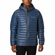 $250 L Men Columbia Titanium Outdry Ex Gold Down Hooded Jacket Trail Ski NWT New