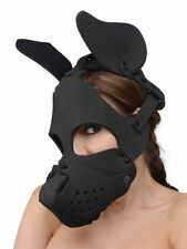 BAD DOG HOOD Neoprene face mask headwear muzzle adult halloween costume black