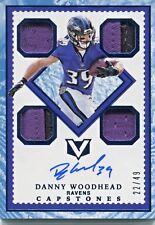 2017 Panini Vertex Capstones Danny Woodhead No.CP-DW Quad Relics Auto #'d 22/49