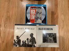 Criterion Collection Kurosawa 3 movie lot. Seven Samurai, Rashamon, High and Low