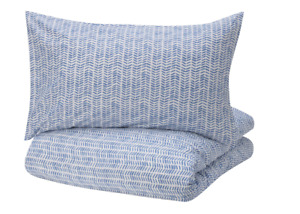 IKEA GÖMBLOMMA GOMBLOMMA Blue Double Duvet Cover Set Pillowcase 200x200cm New