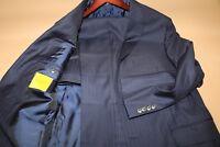#134 Hickey Freeman CUSTOM Blue Striped  Beacon Suit Size 42 R
