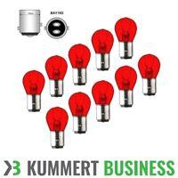 10x P21/5W 12V 21/5W BAY15d ROT kein LED Bremslicht Rückleuchte Lampe Birne RED