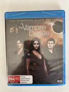 The Vampire Diaries Season 6 (4 Disc Blu-ray) Region B TV Series New & Sealed!