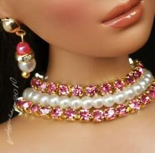"""Rhinestone Necklace and Earring Jewelry Set for 16"""" Tonner Tyler 069B"""