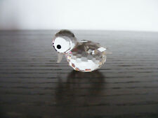 Swarovski   Miniature   Duck   With   Block   Logo  (Retired)  Height  About  1""