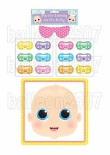 PIN THE DUMMY ON THE BABY PARTY GAME UNISEX BOY OR GIRL  MULTIPLAYER BABY SHOWER