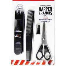 4pc Beard & Hair Groomer Battery Trimmer Kit Moustache Stubble Shaver Clippers