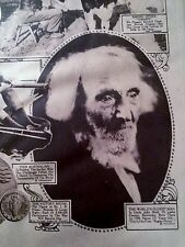 DEC 14, 1919 NEWSPAPER COPY- UNCLE JOHN SHELL, 134 YR, WORLD'S OLDEST MAN