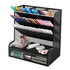Mesh Desk Organizer Pen Holder Desktop Organizer Storage With Drawer Marker