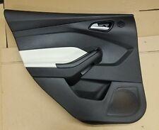2012 Ford Focus Sedan Drivers Rear Door Interior Trim Panel Black White 1031f5