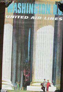 Vintage United Airlines  travel poster 25x40 not a reproduction