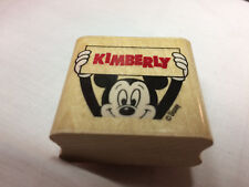Rubber Stamp Wood Mounted Walt Disney Co. Name Kimberly Stamp & Mickey Mouse