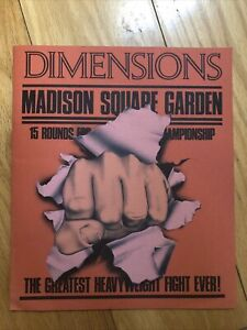DIMENSIONS Madison Square Garden The Greatest HeavyWeight Fight Boxing Promo NYC
