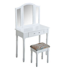 Laura James Sienna Dressing Table with Mirror and Stool Set - White
