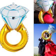 Decoration Big Diamond Ring Aluminium Festive Supplies Toy Ballons 34 Inch