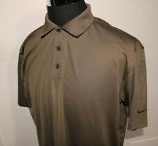 NIKE GOLF Dri Fit Men's Brown Short Sleeve Polo Shirt, Size Large