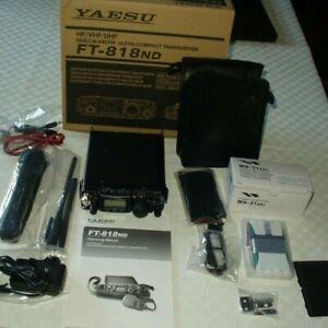 YAESU-FT-818ND HF/VHF/UHF/ TRANSCEIVER.PRISTINE CONDITION + OPTIONAL EXTRAS. !!!