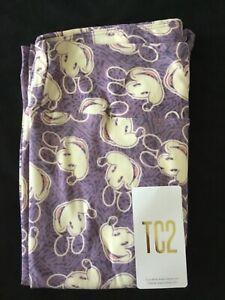 LuLaRoe TC2 Disney Mickey Mouse Purple and White Leggings - New!