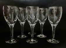 Waterford Crystal John Rocha 'GEO' 21cm Wine Glasses x 6 Signed  - Discontinued