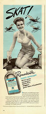 1945 WW 2 era Ad  SKAT Insect Repellent Cute gardener in halter top  021415
