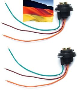 Flosser Pigtail Wire 5444 Female Socket 1157 Two Harness Front Turn Signal Fit