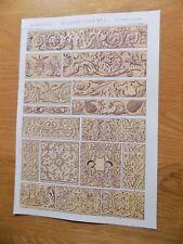 Original Book Print Grammar of Ornament Owen Jones 13x9 Inch Elizabethan 1