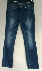 GAP 1968 Real Straight Mitchum Jeans 28 x 31 with distress & fade mid blue