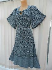 nwot Monsoon Casual Jersey blue mix dress sz 14 UK