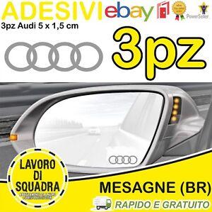 3 ADESIVI AUDI SPECCHIETTO INTERNO Q2 Q3 Q5 Q7 A1 A2 A3 A4 A5 A6 A7 TT R8 SILVER