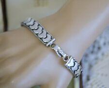 Vintage Jewellery Bracelent Sterling Silver Antique Jewelry 18.5Cm
