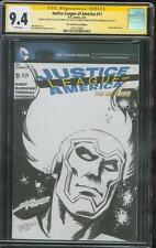 Justice League 11 CGC SS 9.4 Firestorm Steve Erwin Original art Sketch no 8
