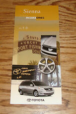 Original 2004 Toyota Sienna Accessories Foldout Sales Brochure 04