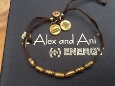 RARE ALEX and ANI LUCKY NUMBER 7 LOVE INDUS Beaded GOLD Silk Thread BRACELET