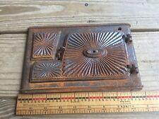 Vintage Salvaged Toy Stove Piece, Cast Iron Salesman Sample Cooking Stove,