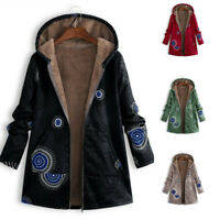 Outwear Coat Jacket Lined Hooded Winter Parka Floral Fleece Women Warm