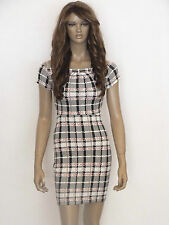 Polyester Stretch, Bodycon Check Regular Dresses for Women